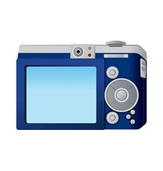 A digital camera is placed vector