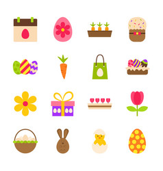 Happy easter spring objects vector