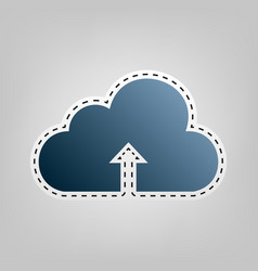Cloud technology sign  blue icon with vector