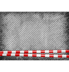 Texture grain grey with red tape vector