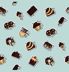 Chocolate concept icons pattern vector