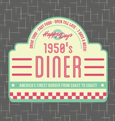 1950s diner style logo design vector