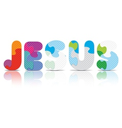 Jesus written with alphabet puzzle vector