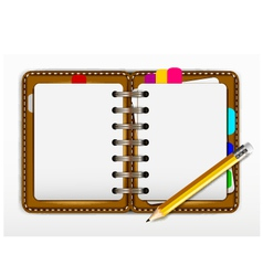 Notepad and pencil for you design vector