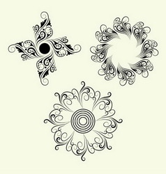 3 Element ornaments vector image vector image