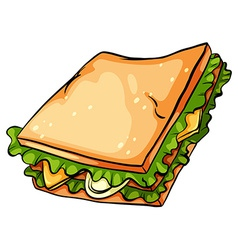 Delicious sandwich with lettuce vector