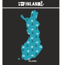 Map of finland print vector