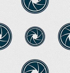 Diaphragm icon aperture sign seamless abstract vector