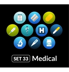 Flat icons set 33 - medical collection vector
