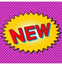 New word comic book element vector