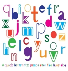 Bright cute alphabet vector