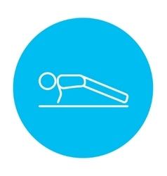 Man making push ups line icon vector