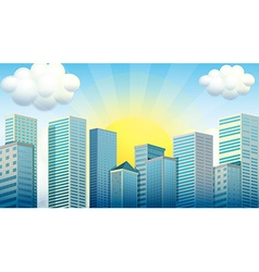 Sky scrapers in the city vector