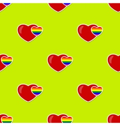 Seamless background with gays icons vector