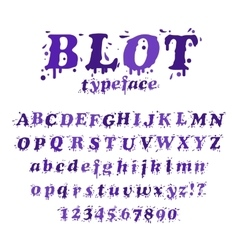 Ink blot typeface vector