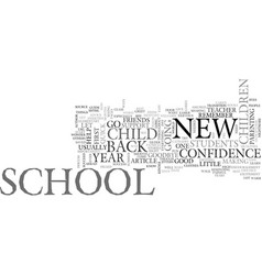 Back to school advice text word cloud concept vector