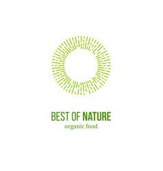 best of nature food emblem vector image vector image