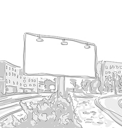 billboard in the city draw graphic design vector image vector image