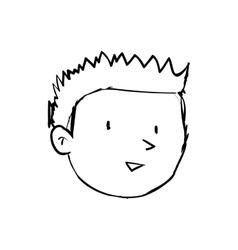 Boy kid icon Person and cartoon graphic vector image