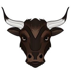 bull head mascot vector image