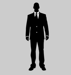 business man black and white 20 vector image vector image