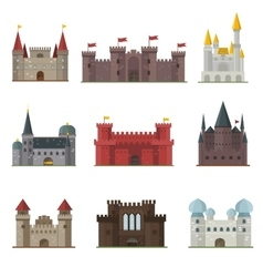 Castle tower building vector image vector image