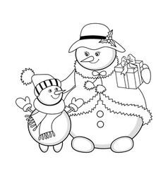 Christmas snowmen vector