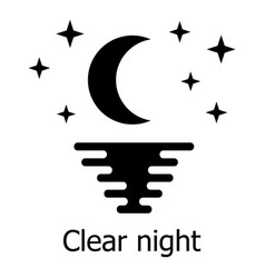 Clear night icon simple style vector