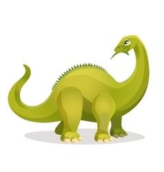 Diplodocus isolated on white extinct genus of vector