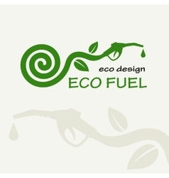 ECO FUEL Symbolic sprout plant spiral and vector image