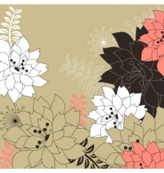 floral background with stylized flowers vector image vector image