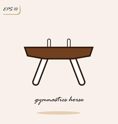 Gymnastics horse vector
