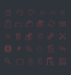 Minimalistic modern web icons set vector