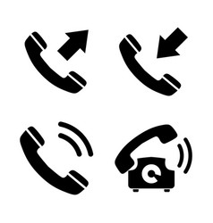 phone simple related icons vector image vector image