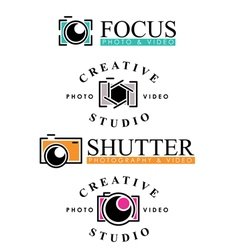 Photography badges vector