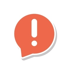Speech bubble with alert symbol isolated icon vector