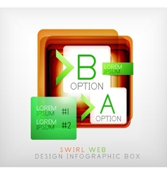 Square geometric shaped web design boxes vector