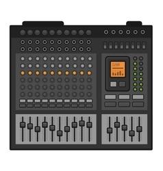 Studio sound mixer music equalizer console vector