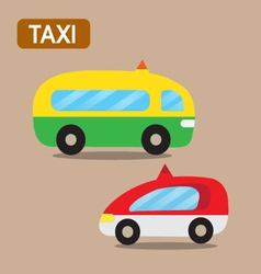 taxi cartoon design vector image