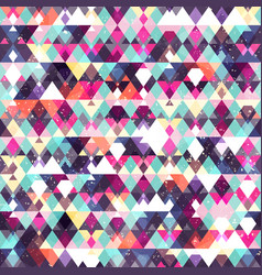 Triangle seamless pattern grunge effect vector