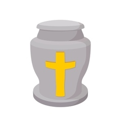 Urn for ashes cartoon icon vector