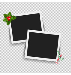 xmas photo frame vector image