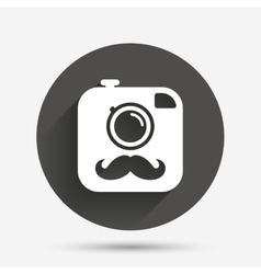 Hipster photo camera sign icon retro camera vector