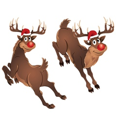 Rudolph the reindeer jumping vector