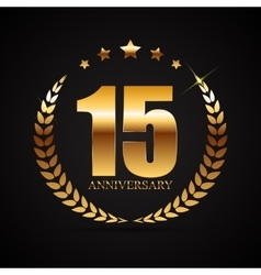 Template logo 15 years anniversary vector