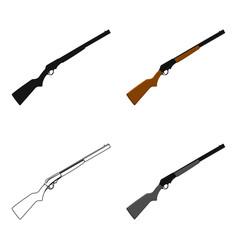 shotgun icon cartoon singe western icon from the vector image