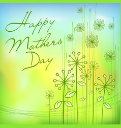 Mothers day green card vector