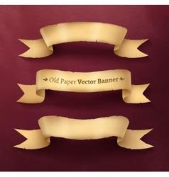 Vintage paper ribbon banner vector