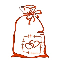 valentine bag vector image