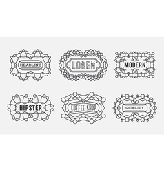Set of luxury insignias logotypes template retro vector